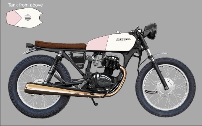 Honda CG 125 scetch1