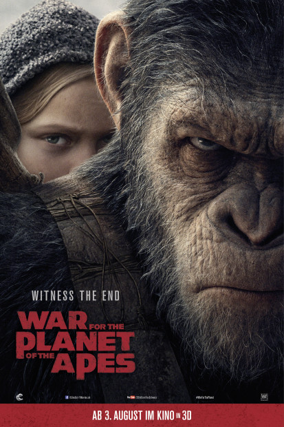 WAR FOR THE PLANET OF THE APES - PLANET DER AFFEN SURVIVAL Movie Review  by dalia di giacomo