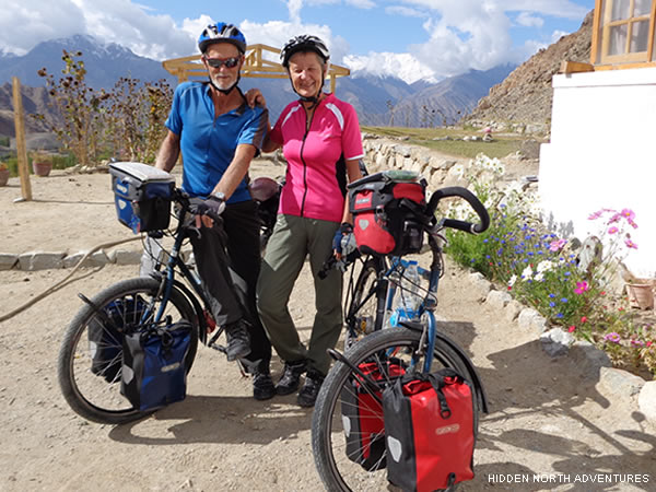 this couple from switzerland stayed at our guesthouse before continuing their cycling tour.