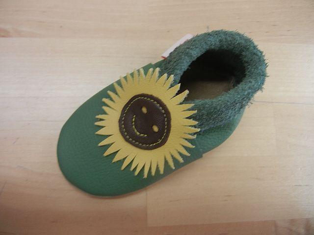 Lederfinkli Babyschuh Sonnenblume