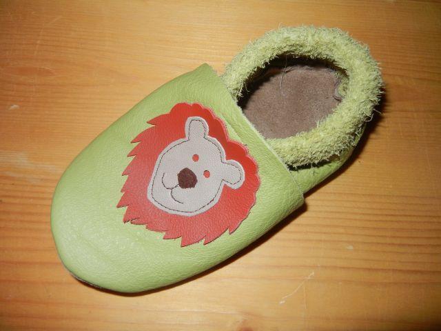 Lederfinkli Babyschuh Löwe