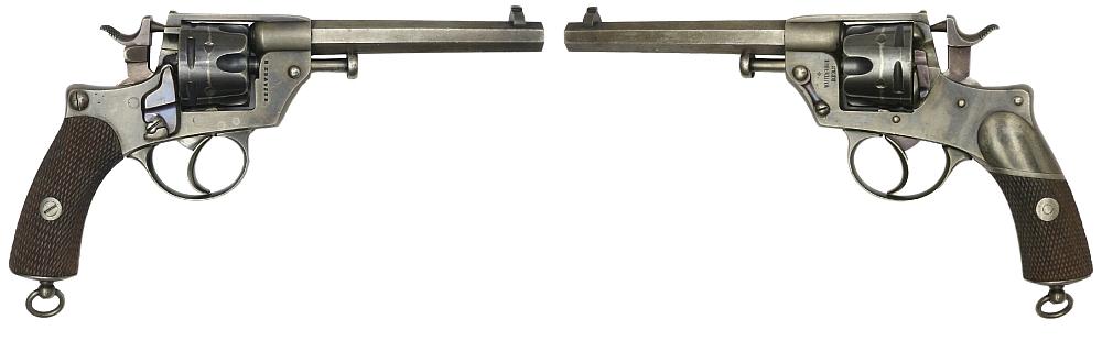 Los 284, seltener Revolverversuch, Schweiz 1877, 10,4mm, System Warnant mit Krauser–Auswerfer, VERKAUFT: Fr. 7'500.-