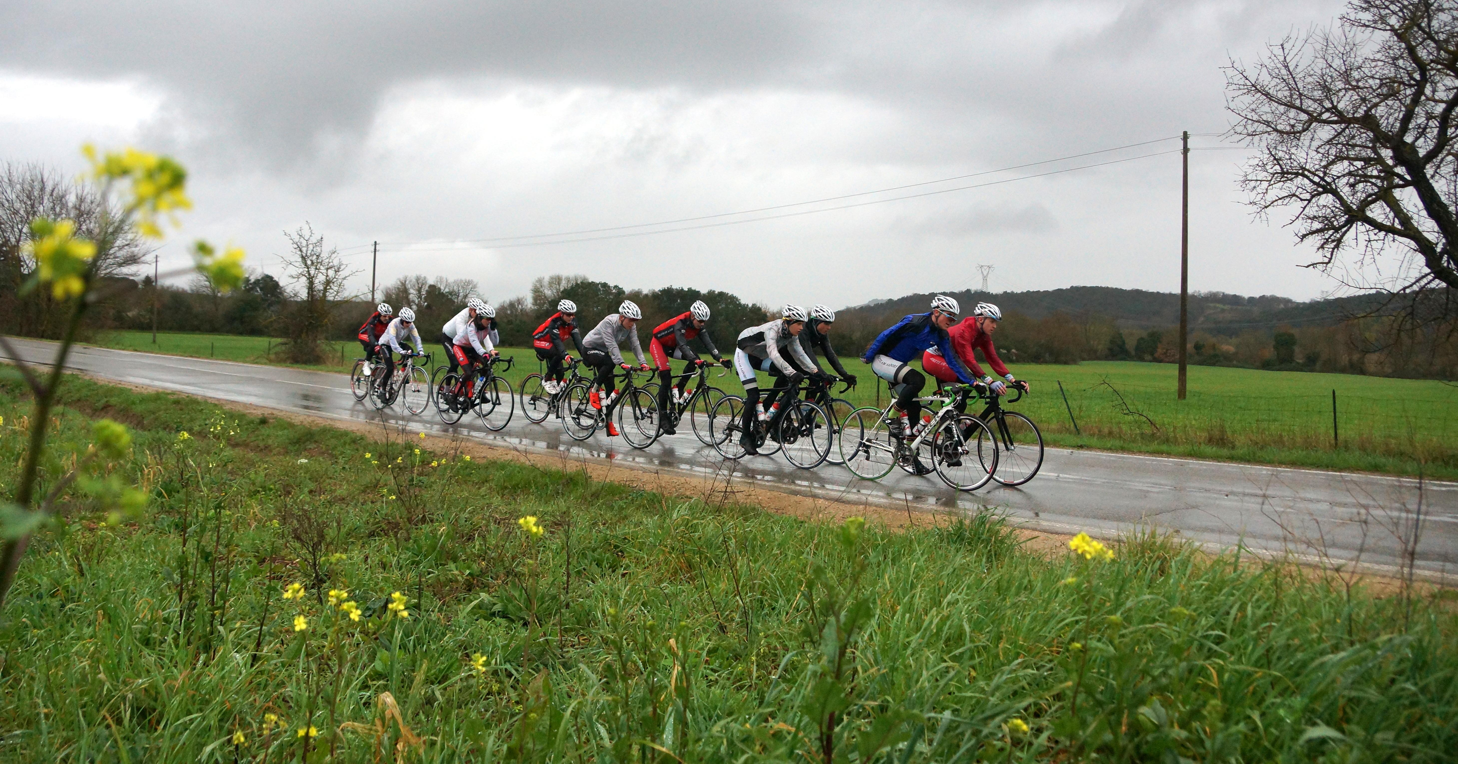 Team Raiffeisen Aadorf-Elgg auf Trainingsfahrt