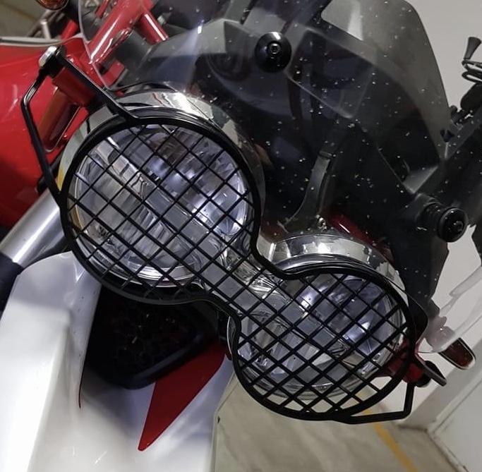 Hepco-Becker headlight grill - Guzzi V85