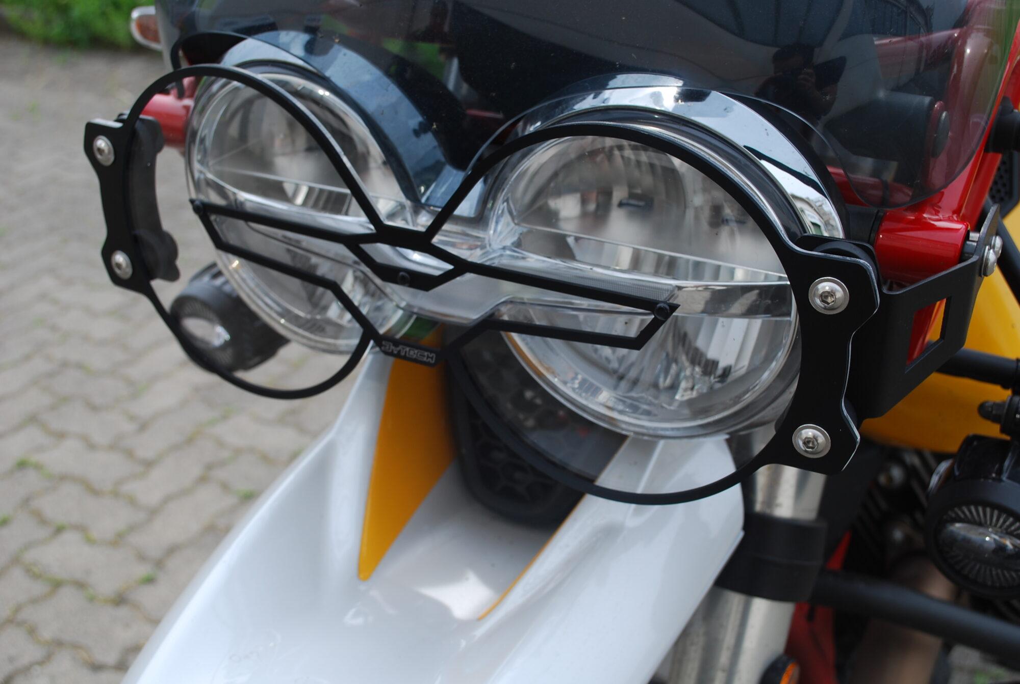 MY Tech - headlight protection - Guzzi V85