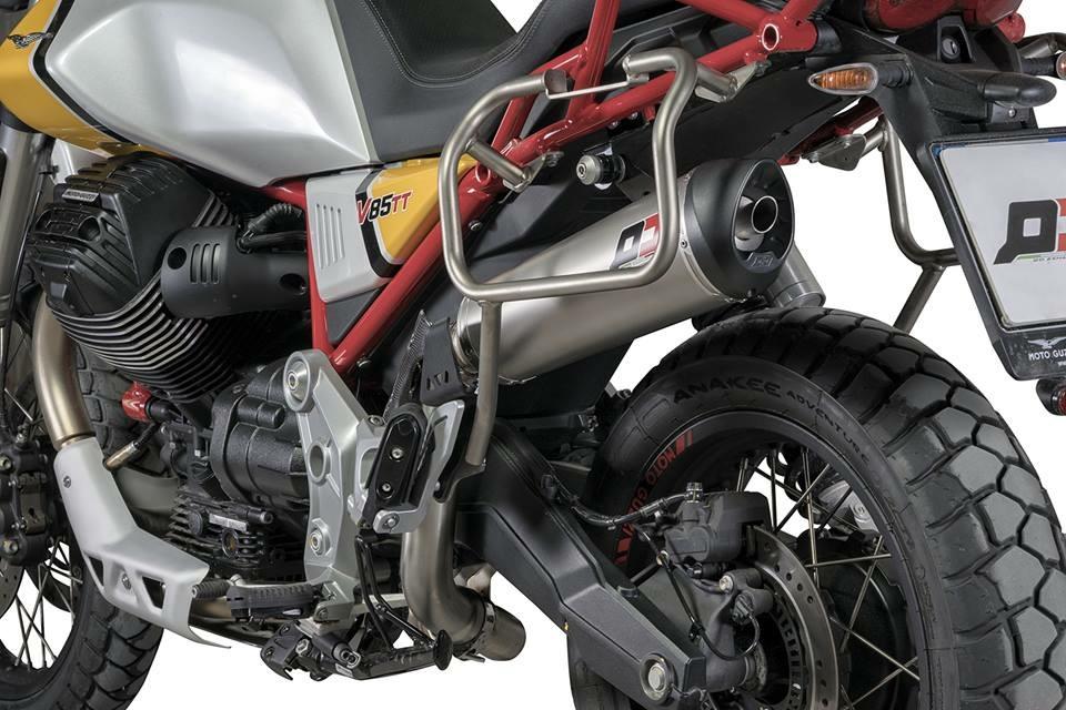 QD Exhaust Slip-On Titanium Tronco-Cono - Guzzi V865