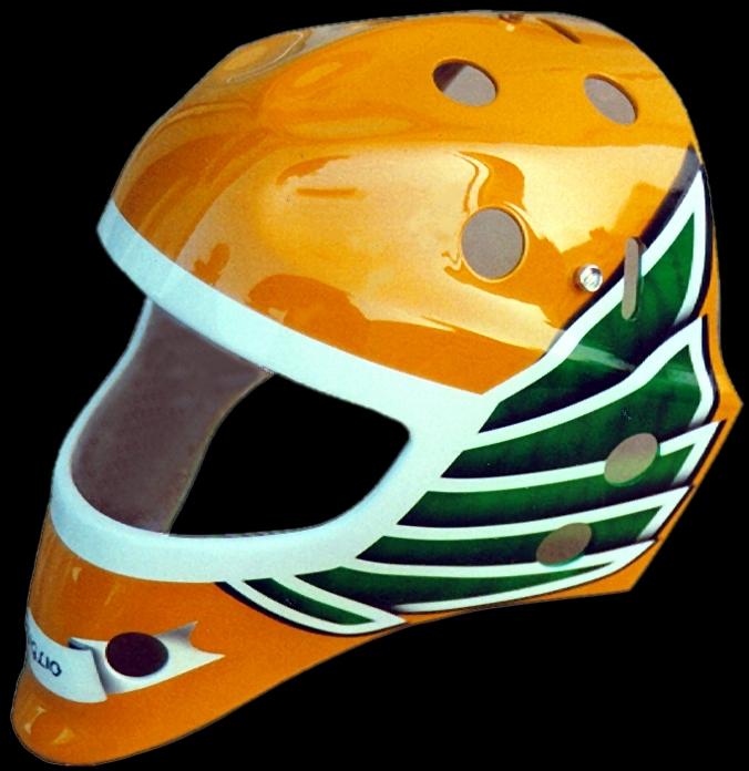 Erste bemalte maske 1993. Eine 'Giglio Mask' by Leo Giglio (ehemaliger Goalie ZS-Zunzgen-Sissach